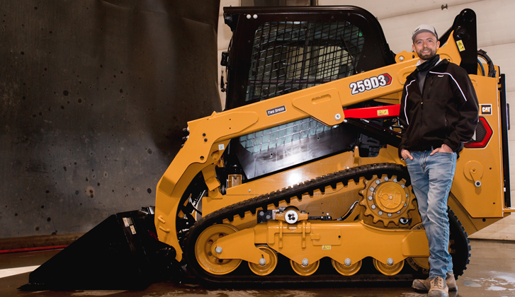 Operator Challenge Winner Receives a Cat® Skid Steer from Finning