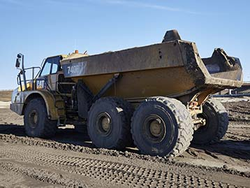 Cat Articulated Truck driving