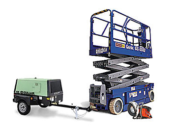 Boom Lift and Generator