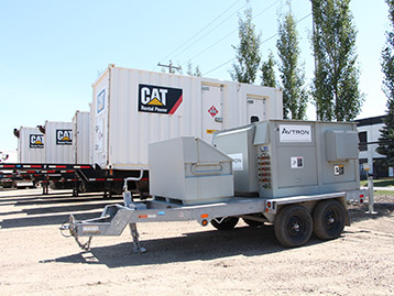 Finning Rental Power generator and compressed air solutions