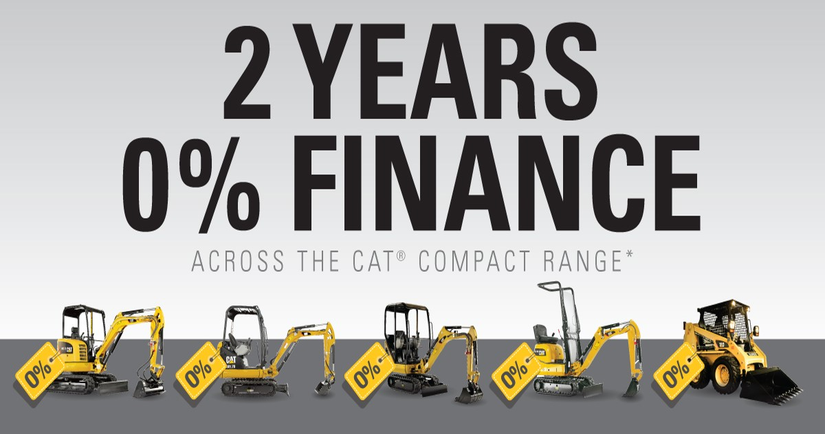 0% Finance across the Cat compact range