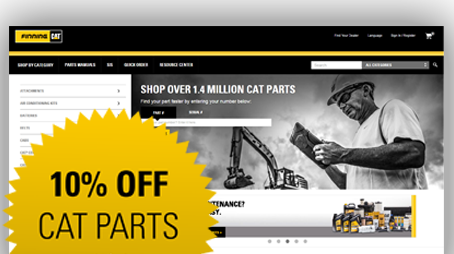 10% Off All Cat Parts